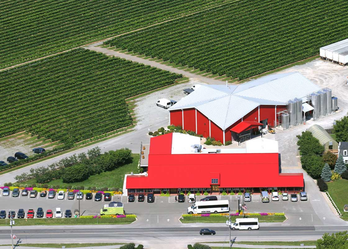 Winery and Vineyard Aerial View