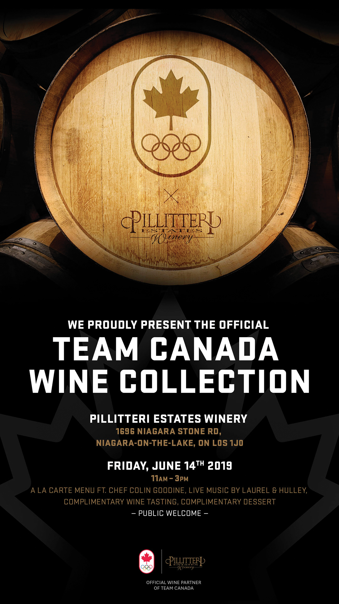 Team Canada wine collection