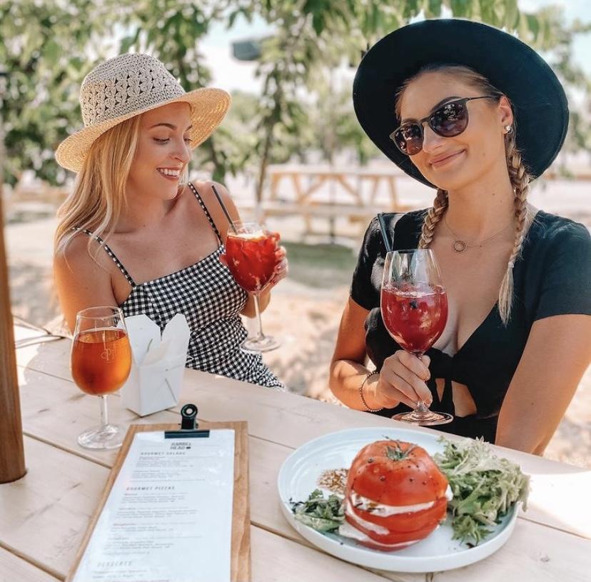 Caprese and Wine