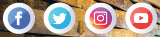 Facebook Twitter Instagram and YouTube
